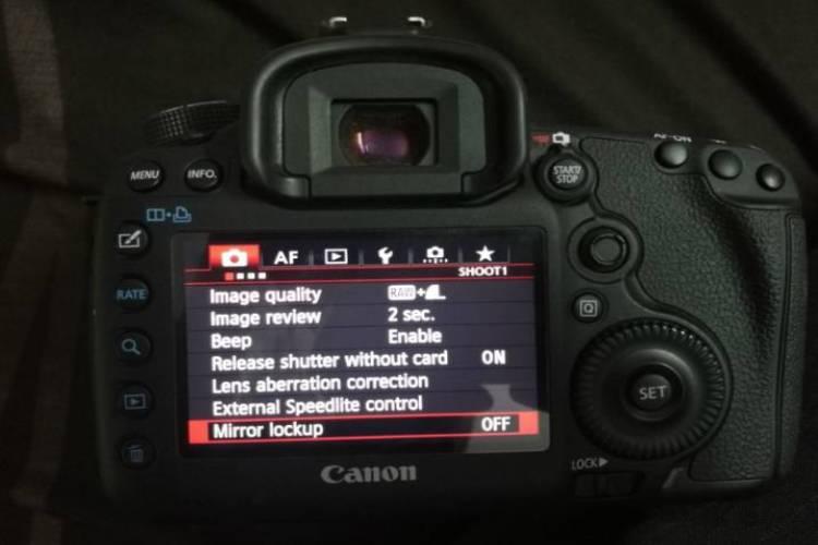 عکاسی با سه پایه - قفل آینه دوربین